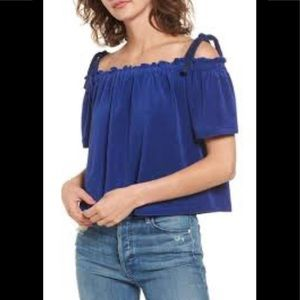 Juicy Couture Venice Beach Microterry Blue Top XS